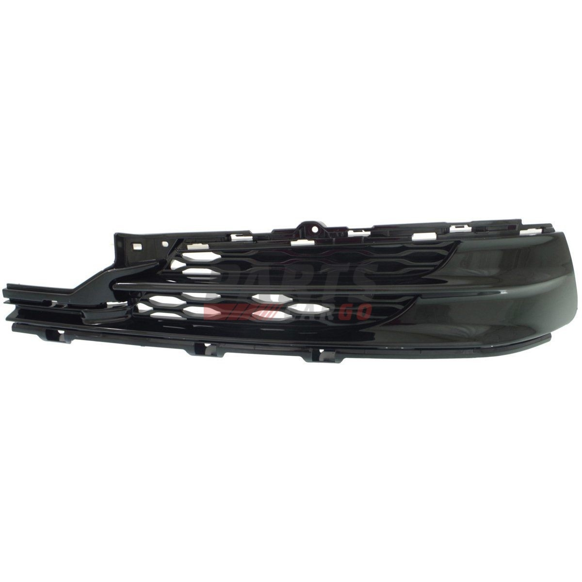 NEW BUMPER GRILLE PAINTED BLACK FRONT LEFT FITS 2015-2017