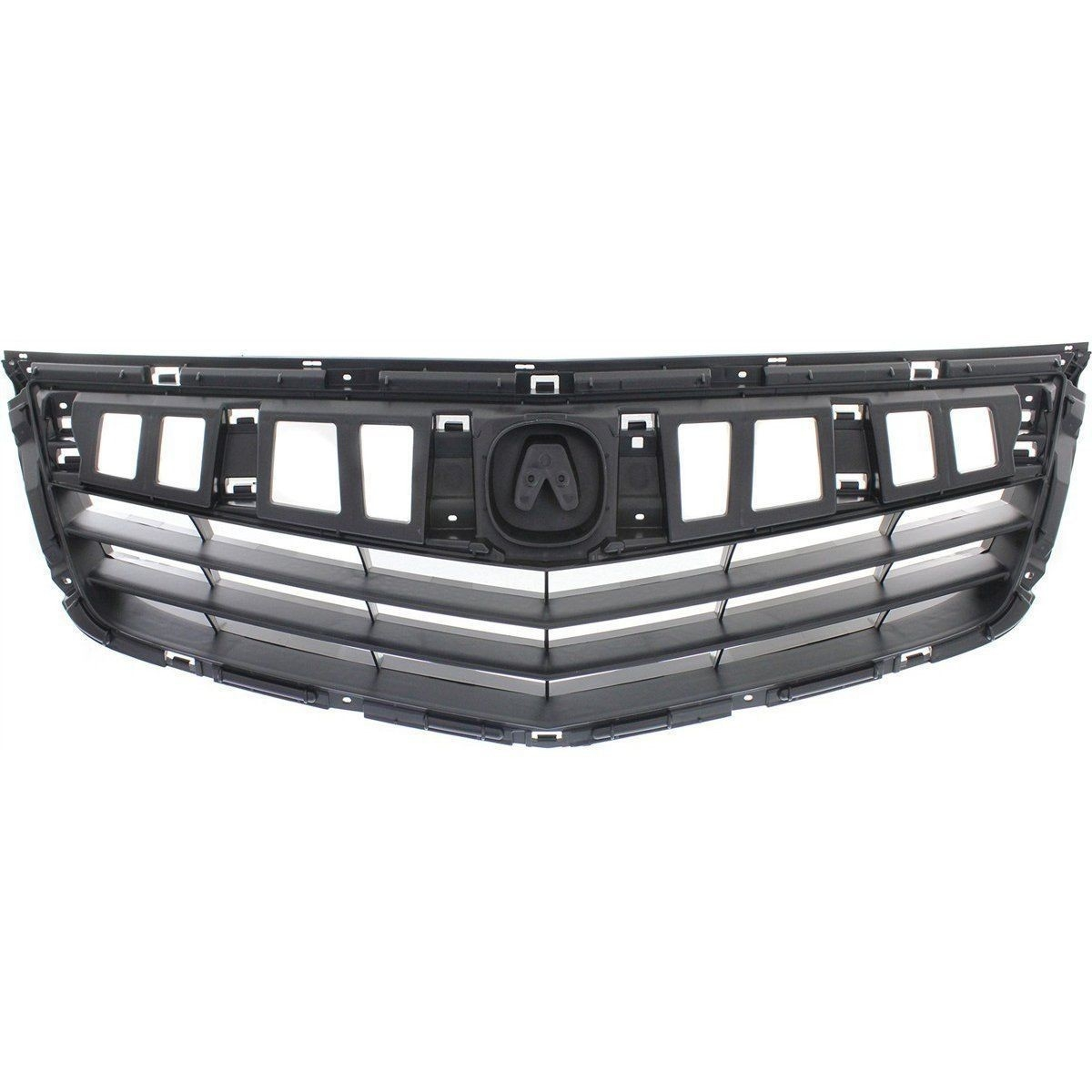 New Grille Matte Black Plastic Front For Acura TSX 2011