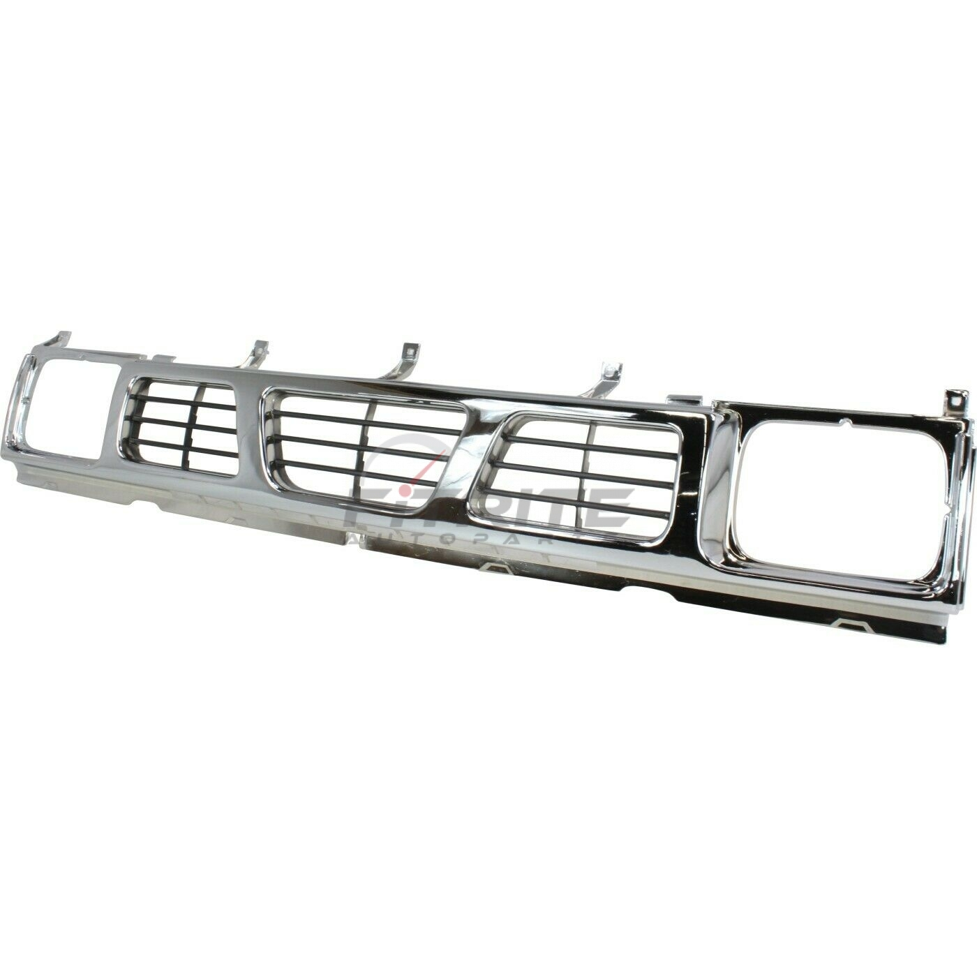New Grille Chrome / Dark Silver Fits Nissan D21 1993-1994