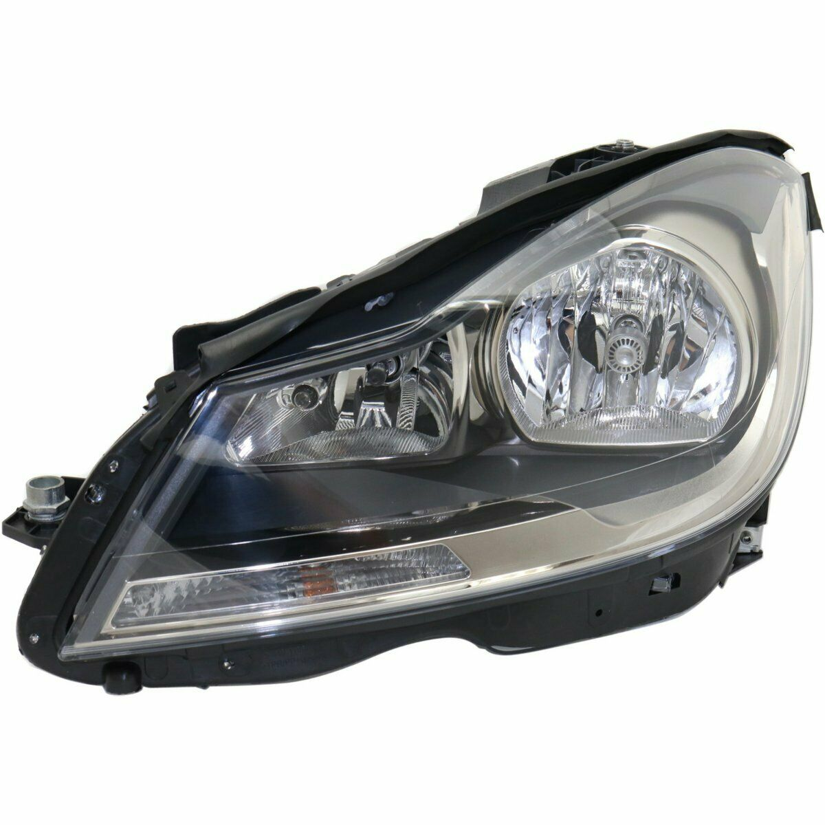 Headlight For 2012-2015 Mercedes Benz C250 Coupe Right Black Housing With Bulb